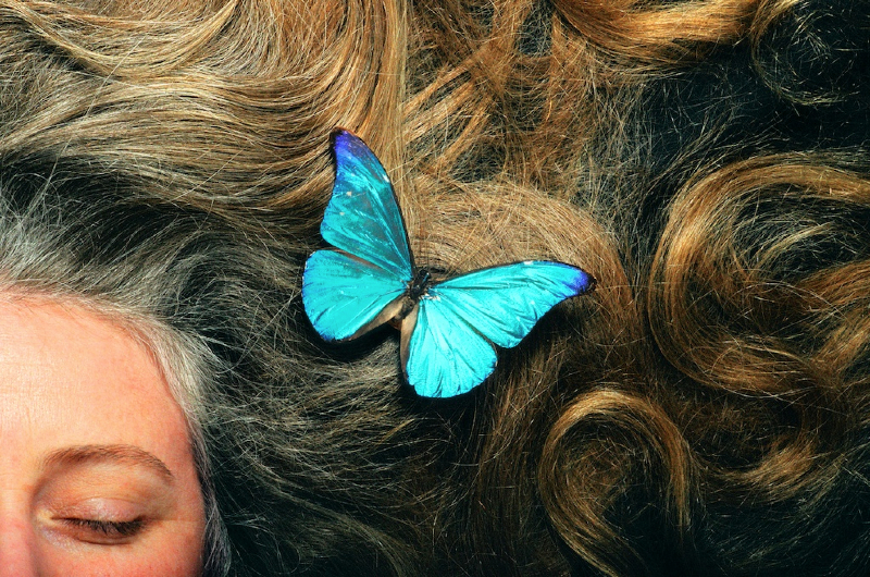 Lainie with butterfly